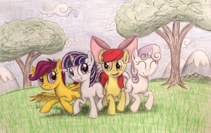 Frolicking Filly Friends (Request for Brony250) by TheFriendlyElephant