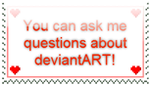 Ask Me Questions Stamp by wintercool612