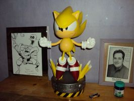 Super Sonic Statue by DazzyDrawing