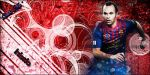 Iniesta BARCELONA by QuikiGraph