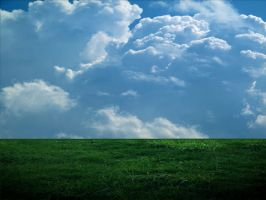 Simple Cloudy Background by mysticmorning