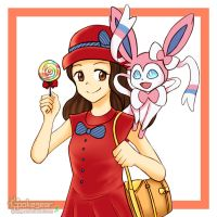 [AT] Sofia and Sylveon by ipokegear