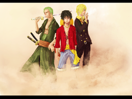 Monster Trio-One Piece by yuzero