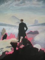 Wanderer above the Sea of Fog (Unfinished) by adriengnotpiy
