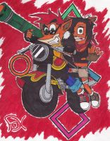 Crash and Coco by Fox-On-Fire