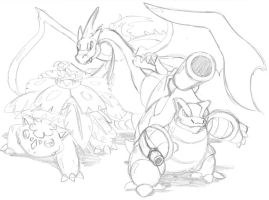 Mega Starters by DracoDragite