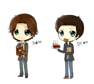 Supernatural Sam and Dean by NekoRawrMeow