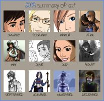 Art summary 2009 by LadyProphet