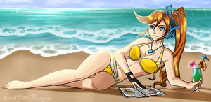 Beach Goddess by SweetLittleVampire