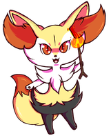 Chibi Braixen by fox-song