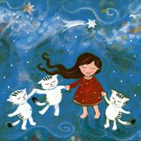 dancing with cats by libelle