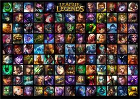 League of Legends All Champions Wallpaper by rubenimus21