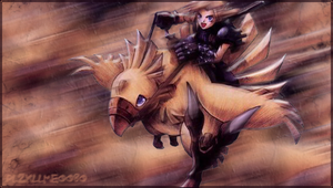 Cloud and Chocobo PSP Background by PLZKLLME0080