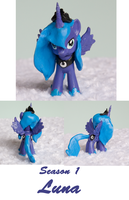Season 1 Luna : Custom Sculpted MLP figure by alltheApples