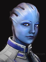 Liara T'Soni Portrait by Hidennka