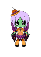 Candy Corn Witch Adopt [Open] by ChibiShay