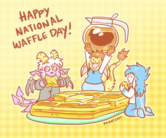 Happy National Waffle Day! by raizy