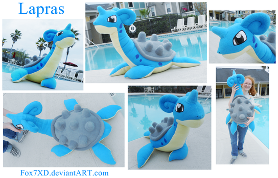 Giant Lapras Plush by Fox7XD