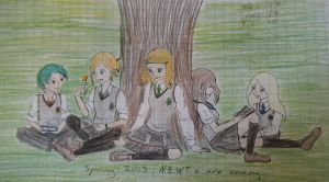 Studying for NEWTs by Tsukiko75014