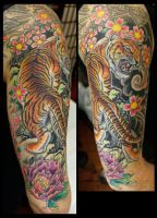 Traditional Japanese Tiger by seanspoison