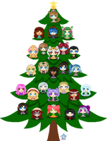 Sammie's Great Christmas Icon Tree 2014 by StargazerSammie