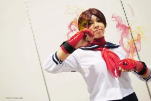 Sakura Street Fighter Cosplay by Sango-chan88