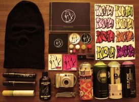 MY GRAFFITI TOOLS!!! by KOHTE