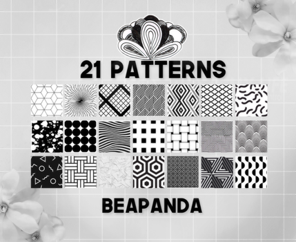 Patterns 002 // Black and White by BEAPANDA