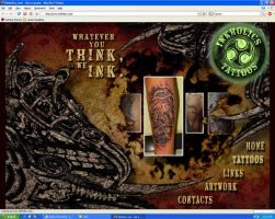 INKHOLICS TATTOO WEB PAGE by ketology