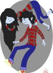 Marceline x Marshall Lee by KatManifestations