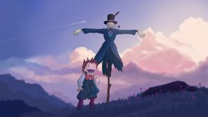 Howl's Moving Castle, Markl and Turnip Head by Tochuri