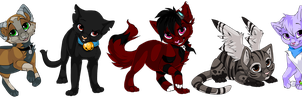 Chibi Kitties by Kamirah