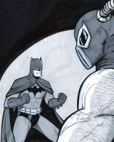 Batman vs Bane Daily Drawing by mregina