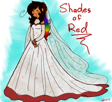 Wedding Dress in Shades of Red by Princess-Seraphim