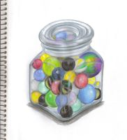 Jar o' Marbles by ESCanime