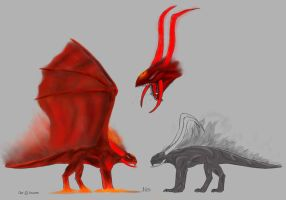 Creature of hell, ref sheet by ThemeFinland