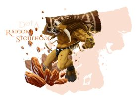The Earthshaker: Raigor Stonehoof by TeaInK