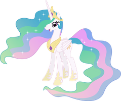 Happy Princess Celestia (4) by 90Sigma