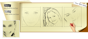 Facebook Timeline Cover Drawing PSD by wsaconato