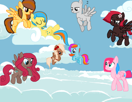 Pegasus Friends Collab by MartyMurray