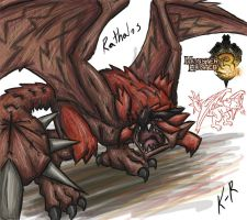 MHTri Day 23 Rathalos by Frost8