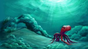 Lonely octopus by scorpy-roy