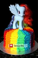 Rainbow Dash My Little Pony Cake (+YouTube Video) by claremanson