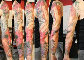 freehand koi sleeve by SimplyTattoo