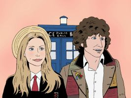The Doctor and Romana by rocketdave
