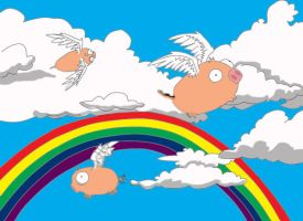 pigs flying colored by altoinsomniac