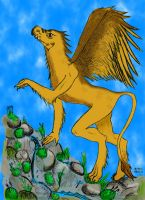 Griffin (gryf) in color by Krystin0207