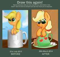 Draw That Again Comparison by Psalmie