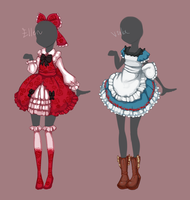 Outfit designs: The Witch's House by MantaTheMisukitty