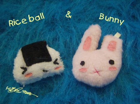 Riceball and bunny by jaken-rox